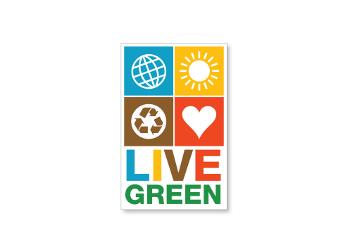 Live green ecology car magnet