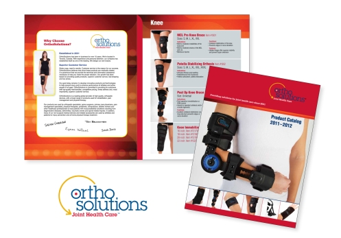 A 20-product brochure for OrthoSolutions